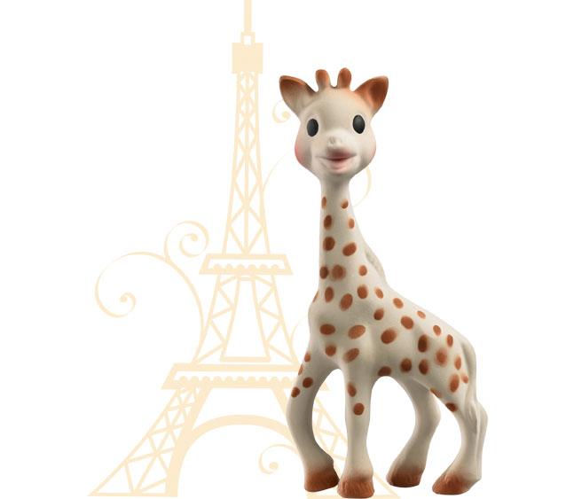 sophie la girafe et tour eiffel